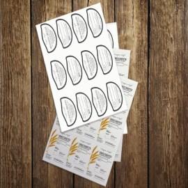 Etichette adesive su fogli A4