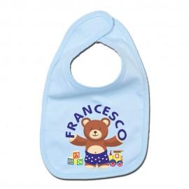 Bavaglina orsetto personalizzata bimbo